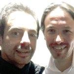Con Pablo Iglesias en Uruguay