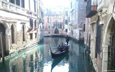 Una selfie en Venecia para comenzar el Carnaval