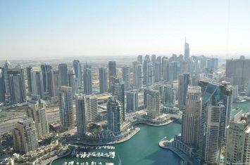 Vista de JLT y Dubai Marina desde Marriot Dubai Marina