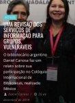 Uma revisão dos serviços de informação para grupos vulneráveis|  #Relato do Bibl...