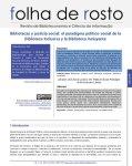 Bibliotecas e justiça social: o paradigma político-social da biblioteca inclusiv...