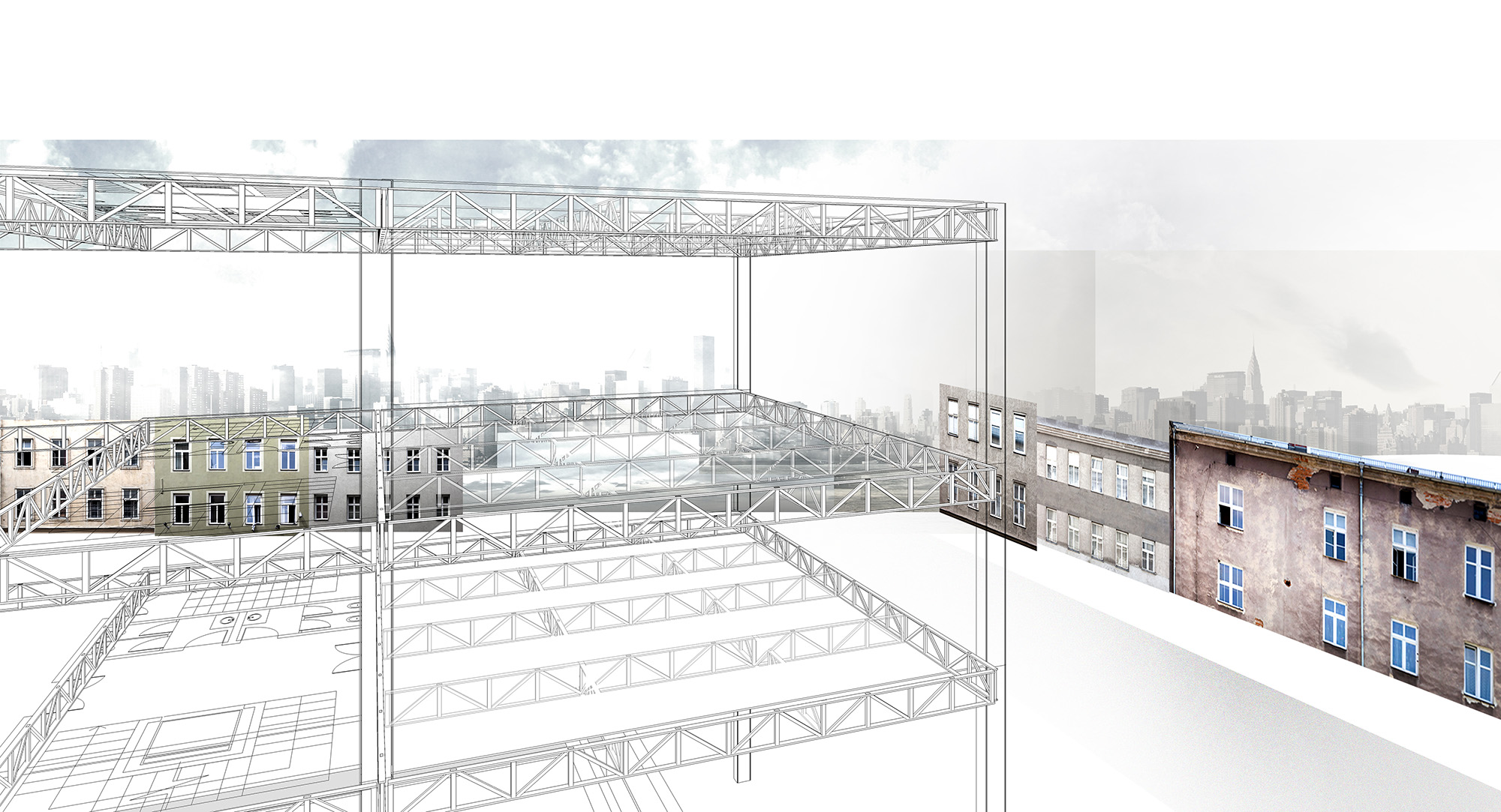 secondary steel trusses