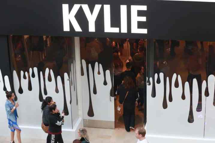 marketing experiencial Kylie Jenner Pop-up Shops