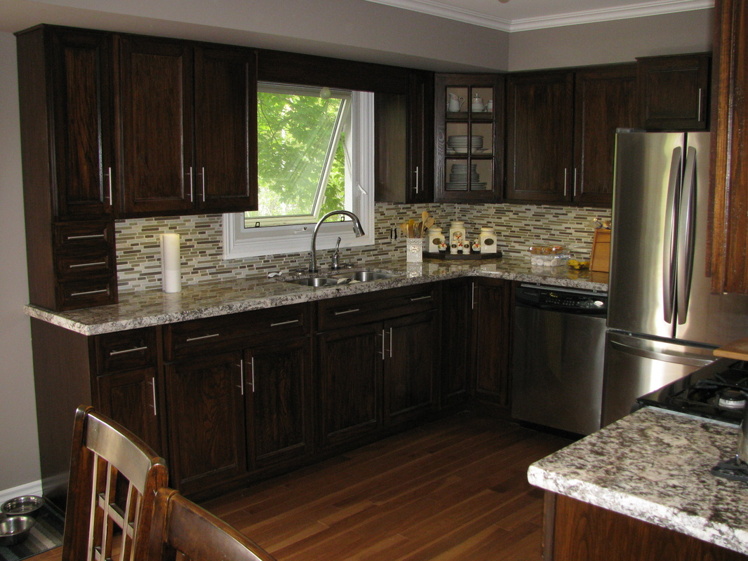 Best Kitchen Gallery: Darken Oak Cabi S Redglobalmx Org of Flat Panel Oak Kitchen Cabinets on cal-ite.com