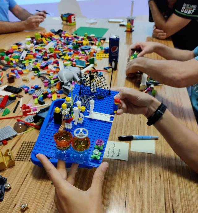 Mision vision y valores con lego serious play