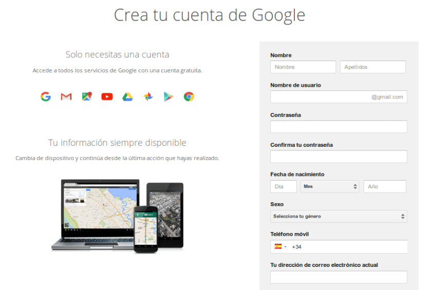 registro gmail