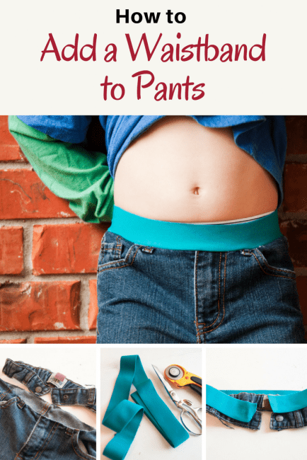 How to Add a Waistband to Pants