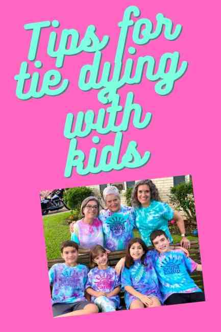 Tips for Tie Dying with Kids