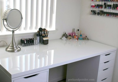 Makeup storage and desk