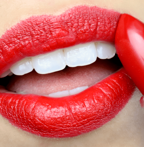 holiday glam red lipstick