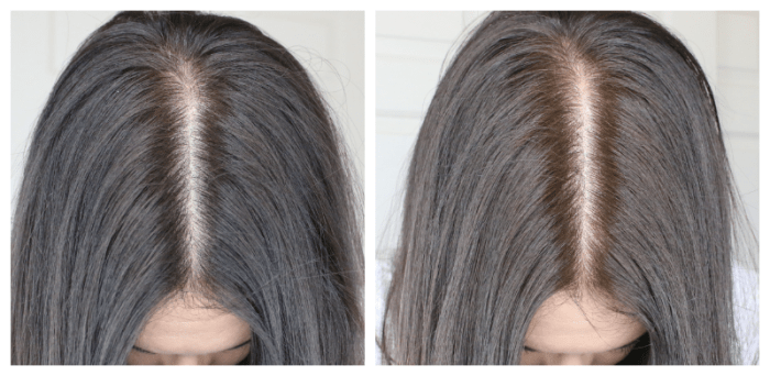 Before and after John Frieda Brilliant Brunette Visibly Brighter