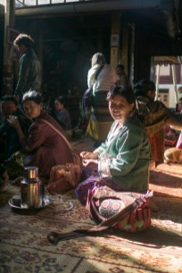 Tea time at the temple - Inle Lake