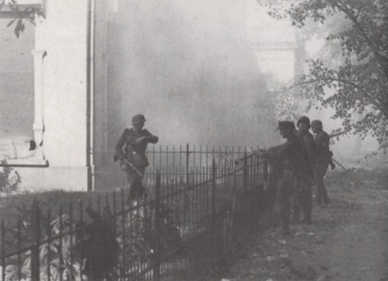 German troops in action at Arnhem