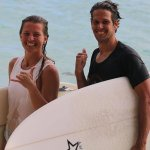 6. ivete & graig over the moon after a session out aganoa right