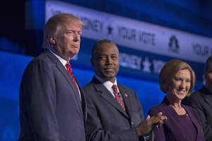 Donald Trump, Ben Carson and Carly Fiorina