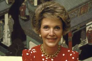 The late First Lady Nancy Reagan
