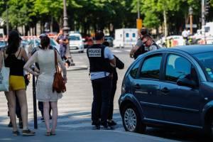 The Champs-Élysées after a terror attack