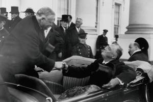 Presidents Herbert C. Hoover and Franklin D. Roosevelt