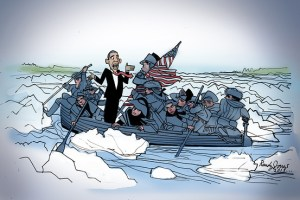 Obama Crossing The Delaware