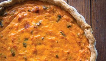 Savory sweet potato pie makes a delightfully different side dish.