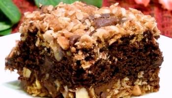 Oatmeal Brownie Crunch Bars Recipe