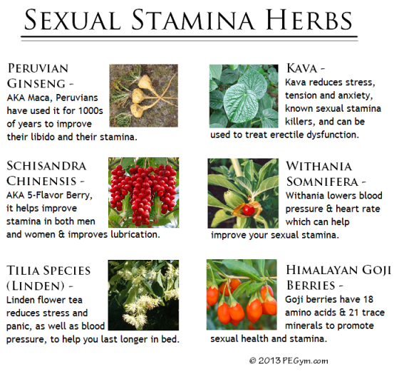 sexual stamina herbs