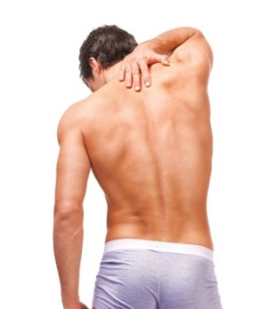 man with back pain - Penis Injuries