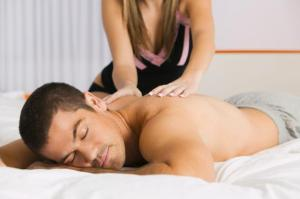 A massage can reduce stress, anxiety and anger and put you in the mood.