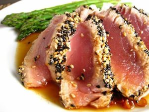 A 3.5-oz serving of tuna provides 1,700 mg of L-arginine.