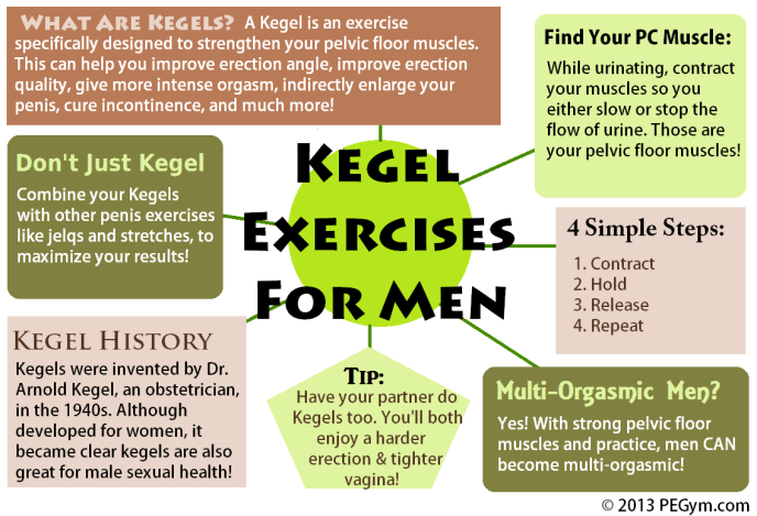 kegel exercises for men infographic