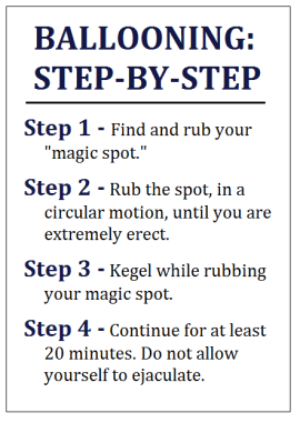 ballooning step-by-step