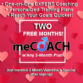 meCoach Valentine Special Free 2 months with any  3 month plan