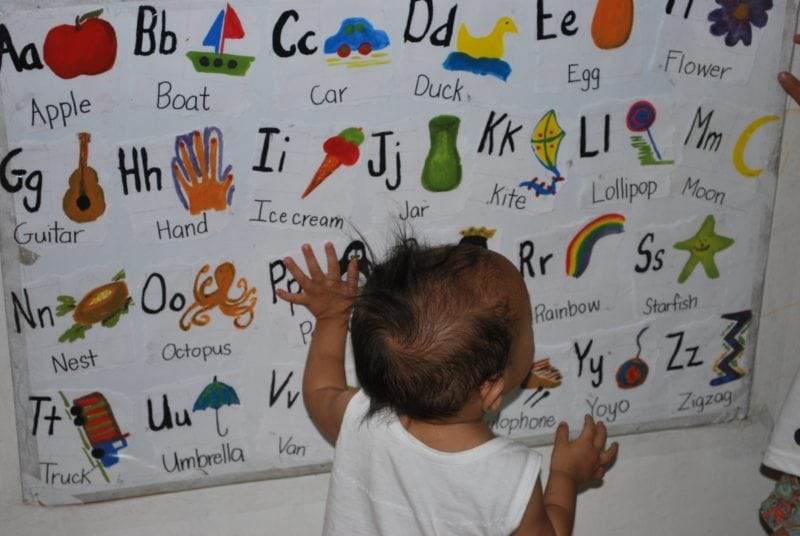 Worksheets Abcd Chart World practical parenting tips on teaching abc mommy pehpot heres a sample of what i did few years back ondoys not familiar with the alphabet yet so he took this chart hehe