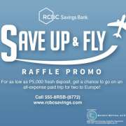"""RCBC Europe Travel Promo:  """"Save Up And Fly"""""""