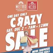 The Metro Stores Crazy Sale 2017