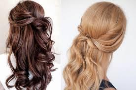 basit yarı toplanmış saç modelleri