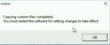 copying custom files completed