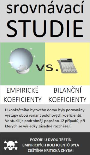 bilanční vs. empirické koeficienty