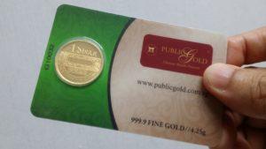 1 Dinar emas 24K LBMA - hari ini pun ada peniaga yang terima untuk seekor kambing.