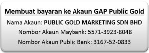 Beli emas GAP - pembayaran