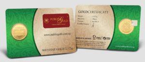 Setengah Dinar LBMA 24K Public Gold