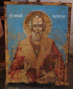 Икона со св. Никола од црквата во Чепигово, која го носи неговото име