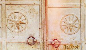 Двете алки со апликациите на македонскиот симбол