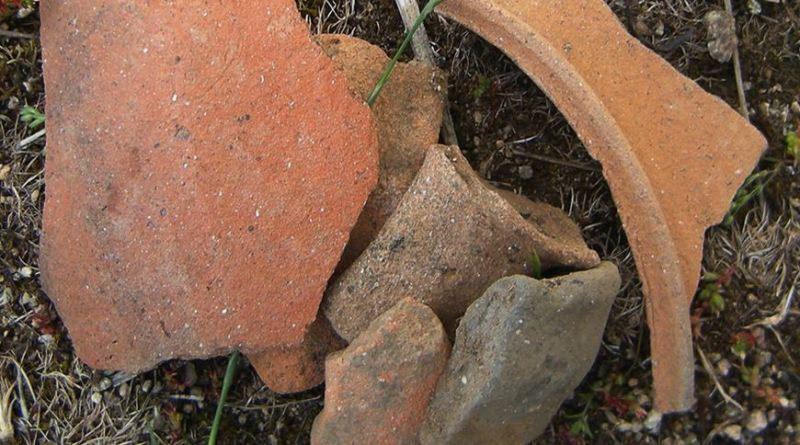Група фрагменти од керамички садови од блискиот простор на гробницата