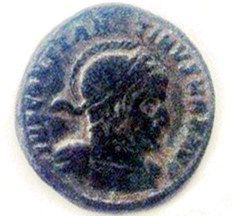 """Монета пронајдена во близина на """"Далов Гроб"""" од римскиот период - аверс"""