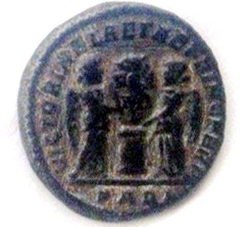 """Монета пронајдена во близина на """"Далов Гроб"""" од римскиот период - реверс"""