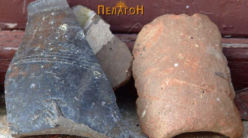 Фрагменти од керамички садови во една од селските куќи 6