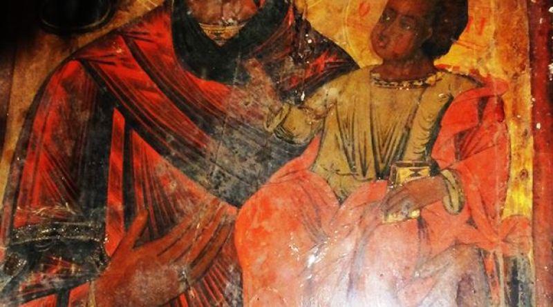 Икона со св. Богородица со Исус Христос