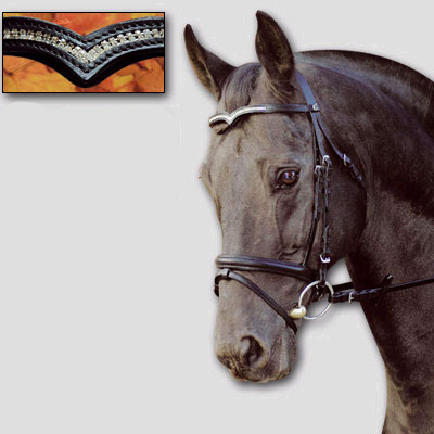 Grecian Style Gold Browbands Horse Bridle Browbands