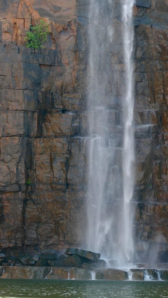 Waterfall, flowing into Berkeley River. Copyright Doug Spencer
